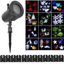 12 Pattern Moving LED Laser Light Projector Landscape Xmas Garden Lamp Outdoor