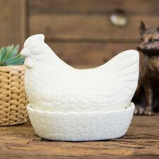 Mason Cash Crema titular de huevos gallina Cesta Nido de almacenamiento de cocina de Pollo Gallo