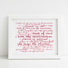 The Stone Roses Poster, Self-titled album, Framed Original Art, Album Print Gift