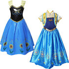 Girls Anna Elsa Disney Frozen Dress Princess Costume Flower Fancy Party Pageant