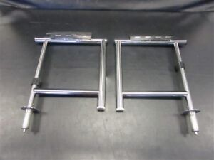 STAINLESS STEEL FOLDING SEAT BASE PAIR OF (2) MARINE BOAT