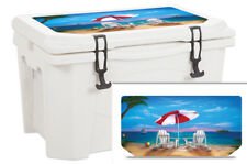 Thickest Wrap 24mil Skin Lid for Grizzly 15qt Cooler Exotic Vacation Beach