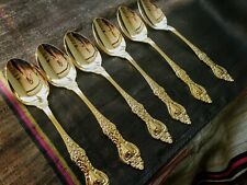 24 carat gold plated Soup cereal SPOONS Stainless steel Northcraft Japan Set 6