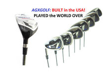 MENS LEFT HAND AGXGOLF MAGNUM IRONS SET w4 HYBRID IRON +5-9 IRONS + PW + FREE SW