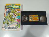 Digimon el Furioso Rey del Mar Metal Seadramon - VHS Cinta Tape Español