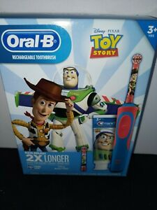 Oral-B Kids Toy Story Rechargeable Electric Toothbrush+Toothpaste with brush app