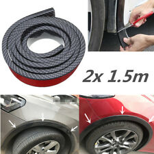 "2x 59"" Car Wheel Side Panel Moulding Strip Rubber Fender Flares Trim CarbonLook"