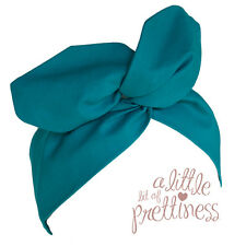 Pin Up 40s 50's Rockabilly Vintage Aqua Vintage Retro Wire Headband Headscarf