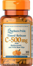 Vitamin C with Citrus Bioflavanoids & Rose Hips Timed Release 500mg 100 caps