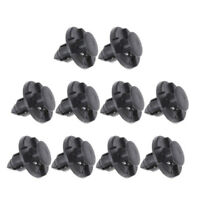 10 Pcs Plastic Rivets Bumper Fastener Push Clips for Auto Car Fender 8mm Black