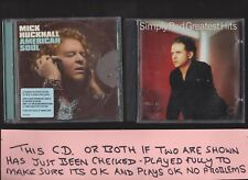 Simply Red Greatest Hits CD (1996) and Mark Hucknall American Soul 2 CD Albums