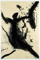 DDR-Kunst/Informel 1989. Gouache Rolf FABER (Ro Fabér, *1943 D), handsigniert