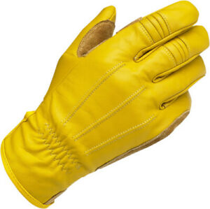 Biltwell Work Gloves (Gold, X-Large) Yellow Mid-Length Cuff 1503-0707-005