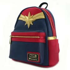 Loungefly Captain Marvel Cosplay Comics Movie Vegan Book Bag Backpack MVBK0026