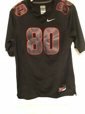 NIKE SEWN  #80 BLACK AND RED NFL FOOTBALL JERSEY SIZE SMALL *E