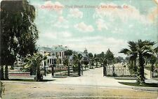 c1910 Postcard; Chester Place from 23rd St. Los Angeles CA 1st Gated Community