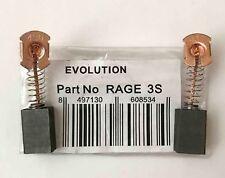 Evolution RAGE 3s & Fury 3 Carbon Brushes Sliding Mitre Saws 030-0254