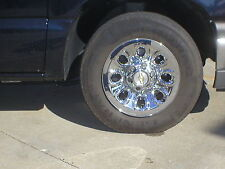 "CHEVY 6 Lug 17"" Chrome Wheel Skins; set of 4 SEE THE BEFORE AND AFTER PICTURE"
