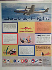 1958 Lockheed Electra New Jet Age Travel Experience Multiple Airlines Ad