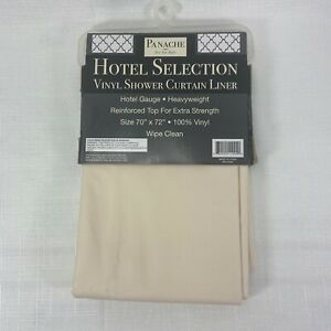 """Panche Hotel Selection Hotel Vinyl Shower Curtain Liner 70"""" x 72"""""""