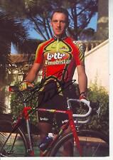 CYCLISME carte cycliste STEVE DE WOLF équipe LOTTO MOBISTAR 1998 signée