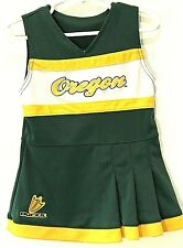 University of Oregon Ducks Cheerleading Outfit Toddler Size 2T Green Yellow