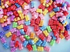 100 Assorted Color Mini Resin Bead 5mm/Cute/Clay/Craft/Beading/bow B52-Butterfly