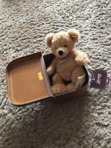 """Steiff  """"Fynn"""" Teddy Bear with Suitcase"""