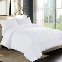 Hotel Quality White Embroidery Duvet Quilt Cover Bedding Set Double King Size UK