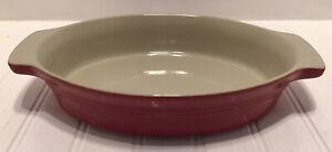 "Bialetti Italian Stoneware Cookware Red 1 Liter/1Quart Oval Baking Dish 11""X7"""
