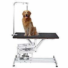 "42.5""x23.6"" Hydraulic Grooming Table Swivel Portable Adjust w/ Arm Noose Pet Dog"