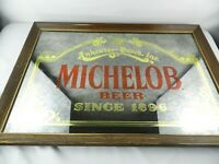 "Vintage Anheuser-Busch Michelob Beer Since 1896 Framed Mirror Sign 18"" x 26"""