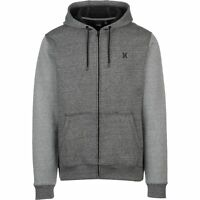 Hurley Hoodie Full Zip Sweatshirt Men's Size Medium Fleece full zip Dark Gray