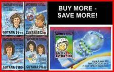 GUYANA 1989 WOMEN in SPACE + S/S SC#2216-19/E18 MNH ** POSTFRISCH CV$21.25