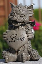 "Gartendrache ""Love"" - Garten, Figur, Herz"