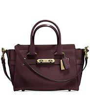 NWT COACH Pebble Leather Swagger 27 Crossbody Handbag Satchel 87295 Oxblood $450