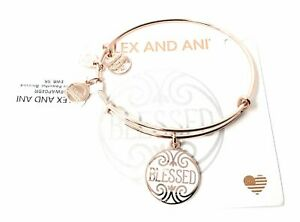Alex and Ani BLESSED Bangle Bracelet, Shiny Rose NWTBC