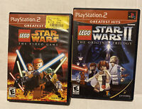Sony PS2 Game Lego Star Wars 1 & 2 Trilogy Complete disc Tested Free Shipping
