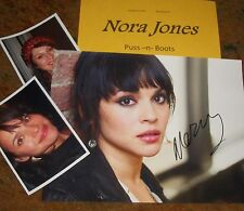 NORA JONES Autographed Photo & Photos -Puss -n-Boots VERY HOT