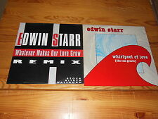 EDWIN STARR - WHIRPOOL OF LOVE & WHATEVER MAKES - 2 VERSCHIEDENE 12'' MAXI-LP'S