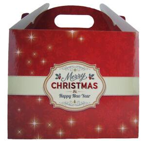 10 x MERRY CHRISTMAS TRADITIONAL GIFT BOXES - XMAS Gift Hamper Box Sweet Box