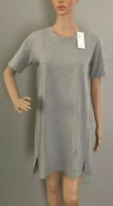 EILEEN FISHER Heathered Organic Cotton Stretch Jersey A-line Dress PP/ PTP $168