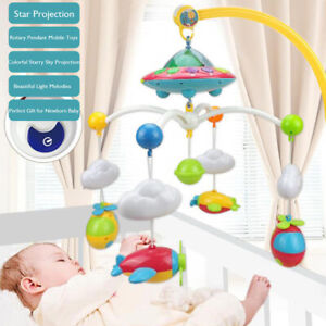 Baby Musical Bed Bell Kid Crib Musical Mobile Cot Music Box Gift Rattle Toy New