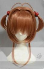 Anime Kinomoto Card Captor Sakura Sakura Cosplay Wig + Wig Cap + Track No.NEW