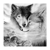 Full Drill 5D DIY Diamond Mosaic Art Craft Wolves Art Cross Stitch Decor Gift