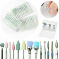 Ceramic Bits File Cuticle Manicure Pedicure Electric Nail Art Drill 10Pcs/Set FT