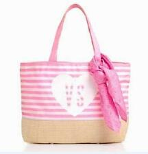 VICTORIA'S SECRET 2014 BEACH STRIPES TOTE BAG AND SIGNED PINK SCARF BRAND NEW