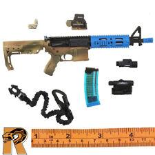 FBI HRT Training - AR15 Assault Rifle Set (Blue) - 1/6 Scale - E&S Action Figure