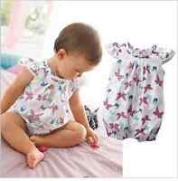 NEW Baby Girl Butterfly Print Cotton Bodysuit Romper Size 3-24 months 00.0.1.2