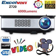 Excelvan Z720 6000lumens Multimedia Heimkino Beamer Projektor 1080p HD LED HDMI